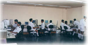 Cadets working in computer lab