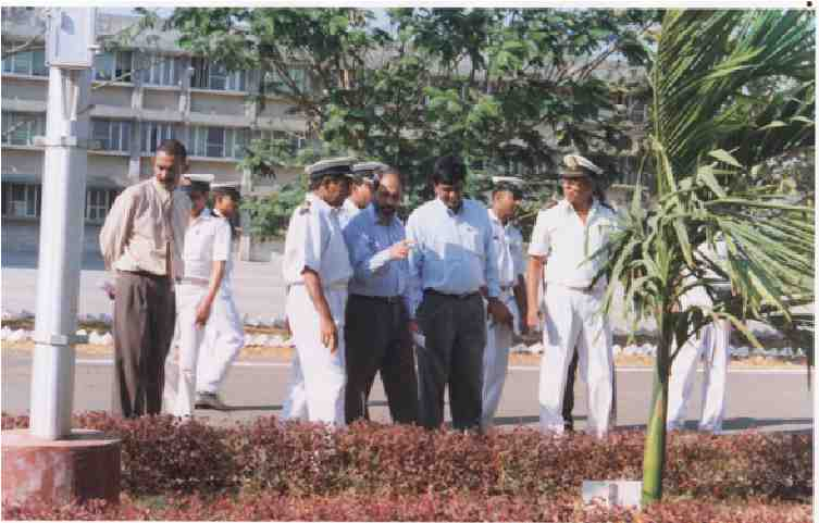 DG Shipping Mr. D.T. Joseph participating in plantation