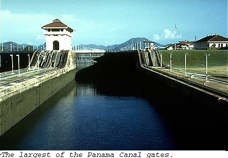 Largest of the Panama canal gates